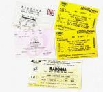 RE-INVENTION TOUR - SET OF 5 UK / FRANCE TICKETS
